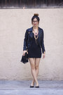 Black-american-apparel-dress-black-topshop-jacket-black-akira-chicago-bag