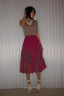 Pink-vintage-japanese-brand-skirt-white-bcbgmaxazria-shoes-white-f21-necklac