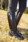 Black-ralph-lauren-boots-black-bullhead-jeans-forest-green-vintage-jacket