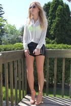 Zara shirt - Miss Sixty bag - Zara heels - H&M bra