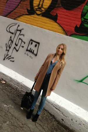 Mango coat - Zara boots - Guess jeans - Louis Vuitton bag