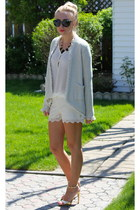 Zara shirt - Zara shorts - D&G sunglasses - Zara sandals - Zara cardigan