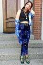 Vintage-blouse-kalaka-hungary-heels-velvet-vintage-pants
