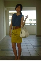 top - skirt - belt - blazer
