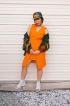 black Gallery Sport jacket - carrot orange my design Fantasticacid dress