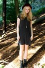 Black-h-m-boots-gray-grey-oversized-h-m-dress