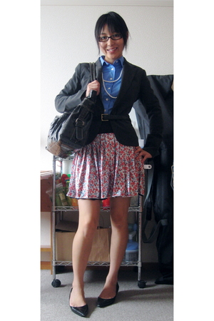J Crew shirt - blazer - skirt - necklace - shoes