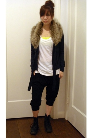 H&M - American Apparel bra - H&M top - asos pants - doc martens boots
