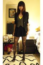 blazer - bra - skirt - shoes