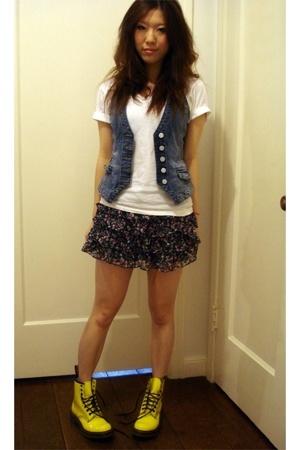 H&M vest - forever 21 skirt - doc martens boots