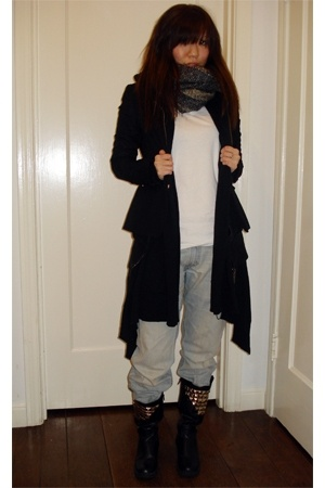 boots - H&M blazer - Mossimo - f21 - Levis jeans - scarf