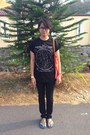 Black-h-m-jeans-orange-mango-bag-black-topman-t-shirt