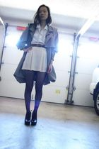green My moms coat - white My moms blouse - gray Charter Club skirt - Forever 21