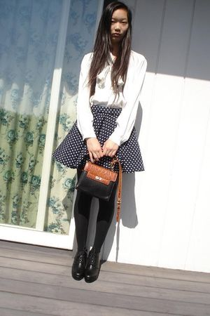 white My moms blouse - blue My moms skirt - black my moms third time  purse - bl