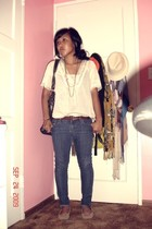 Heritage shirt - Forever 21 necklace - thrifted - H&M accessories - thrifted pur