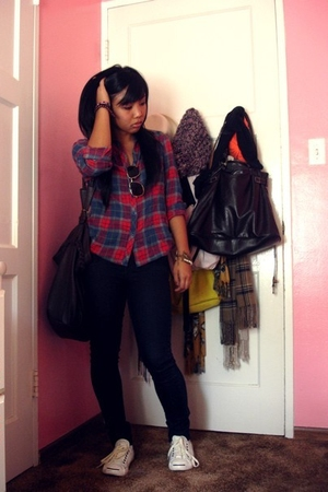 Forever 21 shirt - jack parcell shoes - Forever 21 jeans - Forever 21 purse