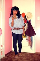 Heritage shirt - Forever21 dress - Wetseal belt - Ross - Forever21 accessories