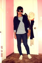 Forever 21 jacket - H&M shirt - Forever 21 jeans - jack parcell shoes - H&M glas