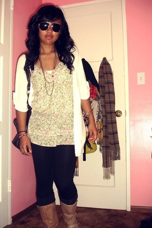 Forever 21 top - - Bakers boots - H&M glasses