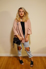 Light-blue-mom-topshop-jeans-light-pink-oversized-forever-21-blazer