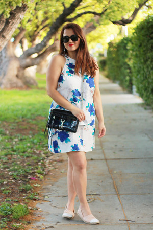 blue Charlotte Russe dress - navy Rebecca Minkoff bag