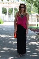 black statement rue21 necklace - carrot orange cross body Tommy Hilfiger bag