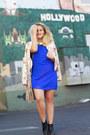 Black-ankle-madewell-boots-blue-halter-charlotte-russe-dress
