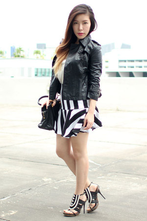 Flauntcc skirt - leather Flauntcc jacket