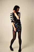 black Alexander Wang top - red Forever 21 skirt - black H&M tights