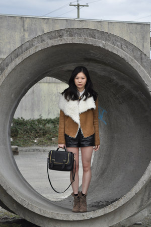 Zara boots - Piko 1988 jacket - wilfred shorts