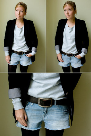 Zara blazer - H&M shorts - pieces belt