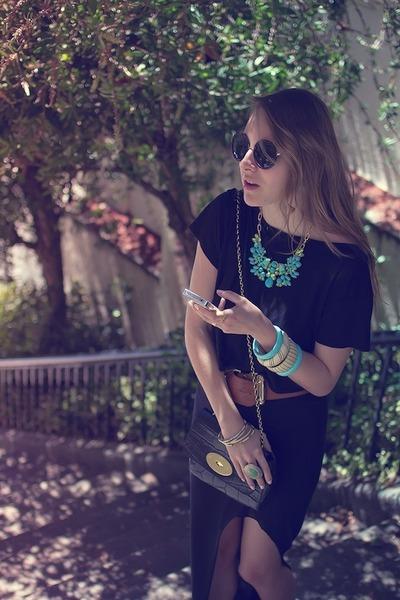 shirt - croc print lily Mulberry bag - Helmut Helmut Lang skirt