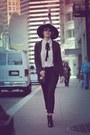 Black-zara-boots-black-h-m-hat-black-marc-by-marc-jacobs-blazer