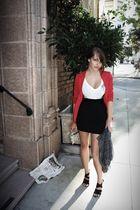 red Marc by Marc Jacobs blazer - white 012 t-shirt - black Forever 21 skirt - bl