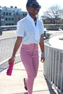 Pink-and-white-cemi-ceri-leggings-white-mng-shirt-hot-pink-bag-heels