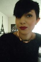 black hm sweater - choker hm necklace