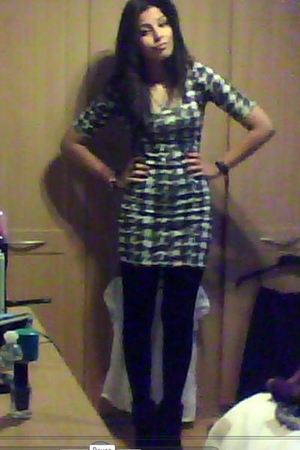 Dorothy Perkins dress - H&M tights - Primark boots