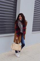 Zara coat - Zara scarf - Converse sneakers