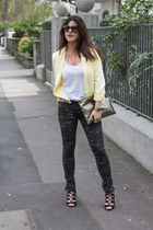Primark blazer - camo Lefties pants - Lefties heels