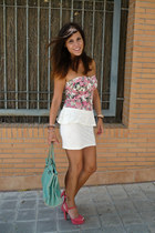 peplum suiteblanco skirt - suiteblanco bag - suiteblanco top - Primark heels