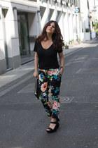 flower H&M pants - Primark heels