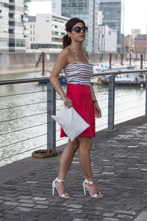 red suiteblanco skirt - crop top Zara top