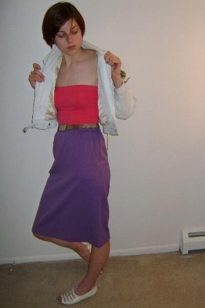 FashionMonger Vintage jacket - Express top - FashionMonger Vintage belt - Fashio