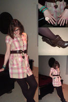 beige Decree by JC Penney dress - brown wal-mart tights - brown Charlotte Russe