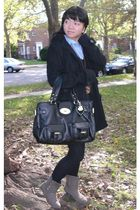 black Mulberry for Target bag - gray Chinese Laundry boots - blue calvin klein s