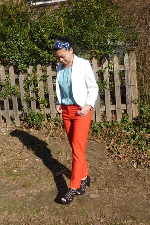 light blue Jason Wu for Target top - black Payless shoes - white H & M blazer