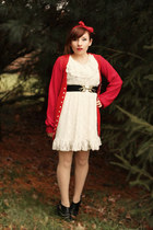 thrifted dress - Urban Renewl cardigan - Target heels