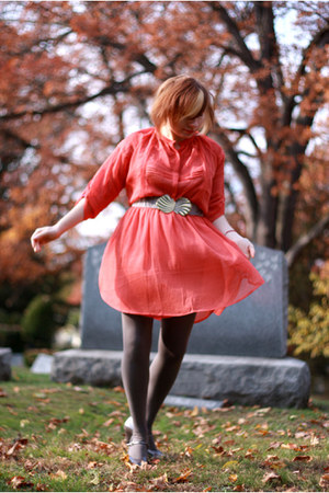Urban Outfitters dress - American Apparel tights - thrifted heels