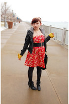 Forever 21 dress - jack jacket - Target tights - Urban Outfitters belt - gift he