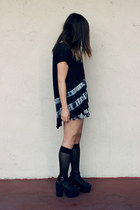 black Forever 21 top - black H&M wedges